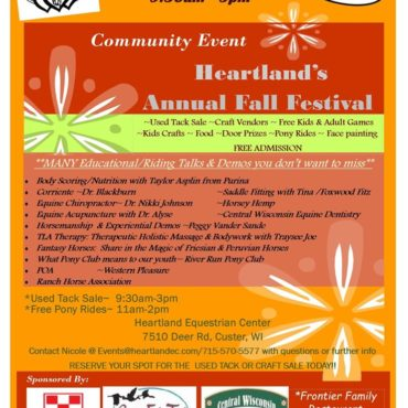 Heartland's Annual Fall Festival/ Craft & Used Tack Sale